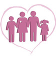 Breast cancer patient family support vector image vector image