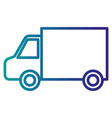 car van isolated icon vector image