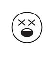 cartoon face shocked people emotion icon vector image vector image