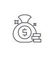 cash win line icon concept cash win linear vector image vector image