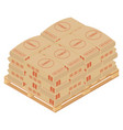 cement bags stacked on wooden pallet paper sacks vector image vector image