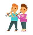 children boys kindergarten or school playing music vector image vector image
