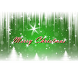 christmas snowfall and winter forest vector image vector image