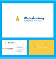 church logo design with tagline front and back vector image vector image