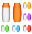 Color shampoo bottles vector image