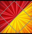 comic diagonal light background vector image vector image