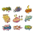 Comic speech bubbles for sound exclamation vector image vector image