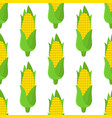 corn seamless pattern cartoon flat style vector image