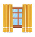 curtains on window isolated icon blinders or vector image vector image