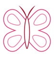 cute butterfly wings insect decoration vector image