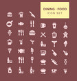 dining and food icon set vector image