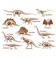 dinosaurs decorative icons set vector image vector image