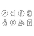 direction smartphone message and couple icons vector image vector image