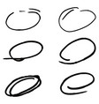 doodle sketched circles hand drawn vector image vector image