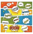 Emotional And Sound Comic Bubbles Set vector image vector image