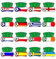euro 2012 fantasy shields vector image vector image