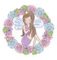 fairy wreath wedding set vector image vector image