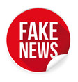 fake news label sticker vector image vector image