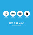 flat icon petrol set of flange rig container and vector image vector image