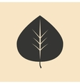 Flat in black and white mobile application tree vector image vector image