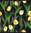flower seamless background tulips over vector image vector image