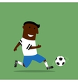 Football or soccer player dribbling a ball vector image