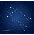 gemini constellation zodiac vector image vector image