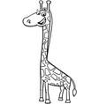 giraffe animal character cartoon color book vector image vector image