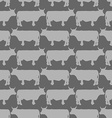 Grey cows graze seamless pattern background of vector image vector image