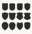heraldic shields icons set silhouettes vector image vector image