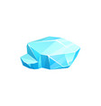 ice crystal blue iced low glacier or floe vector image vector image