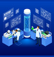 isometric concept laboratory exploring new vector image vector image