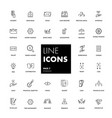 line icons set finance vector image