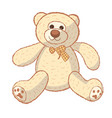 little teddy bear character isolated on white vector image vector image