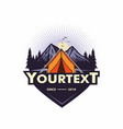 logo mountain adventure camping climbing vector image vector image