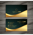 luxury golden business card design vector image vector image