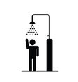 man in the shower icon vector image vector image