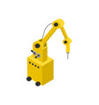 modern robot with hydraulic hand banner vector image vector image