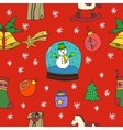 New Year and Merry Christmas seamless pattern vector image vector image
