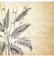 Palm tree over bamboo forest vector image vector image