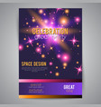 Party celebration poster with space design vector image