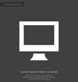 pc premium icon white on dark background vector image vector image