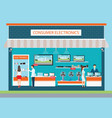 people in consumer electronics store vector image vector image