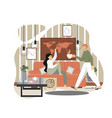 positive family relationship concept flat vector image