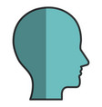 profile human isolated icon vector image vector image