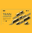 railway freight transport company website vector image vector image