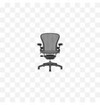 realistic office chair element vector image vector image