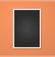 rectangle frame isolated on red vector image