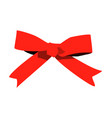 red bow isolated on white background vector image