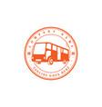 retro vintage bus car transport transportation vector image vector image